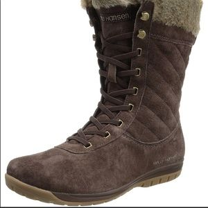 Helly Hansen Eir 4 Lace Up Faux Fur Boots Brown